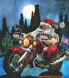 Santa Claus está viniendo en moto