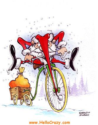 Santa's bike