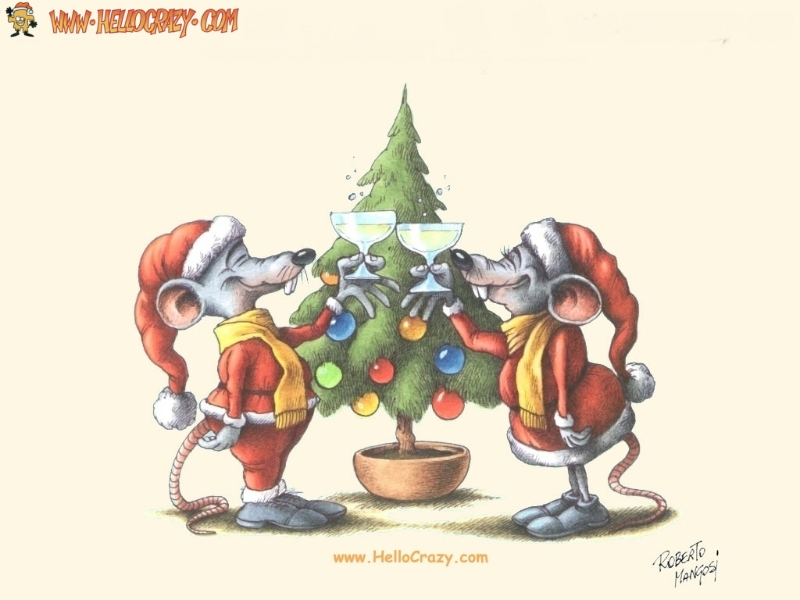 Mice Merry Christmas (800x600)