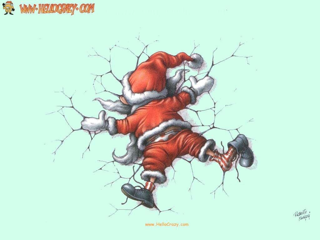 : Smashed Santa Claus (1024x768)