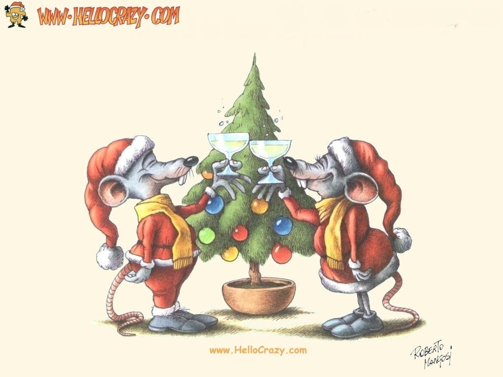 Mice Merry Christmas (1024x768)