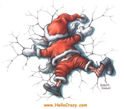 Babbo Natale spiaccicato...