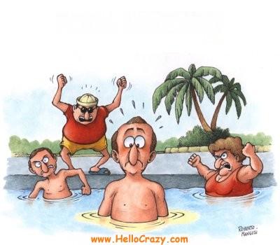 non fare pipì in piscina