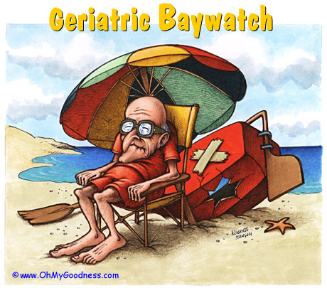 : Senior Baywatch... waiting for the New Social Security Retirement Age