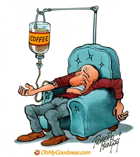 : IV Coffee therapy...