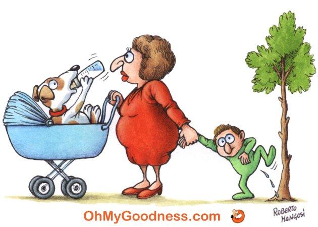 : Mama tensionada...
