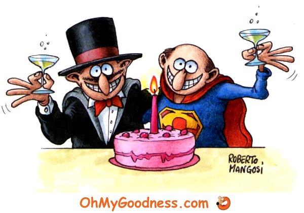 : Also a Superhero gets older...