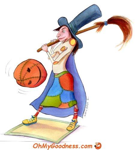 : Witch playing Baseball