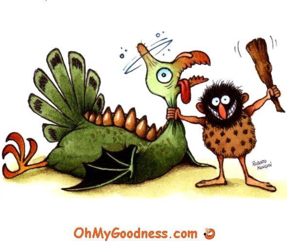 : Turkeysaurus for dinner!