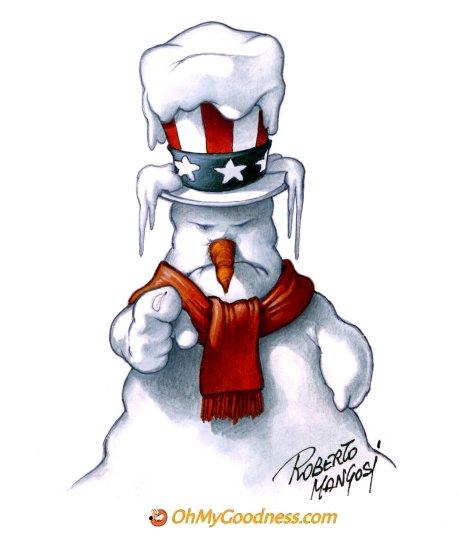 : Frozen Uncle Sam