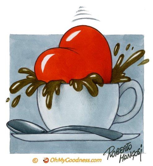 : caffè per il mio dolce cuore