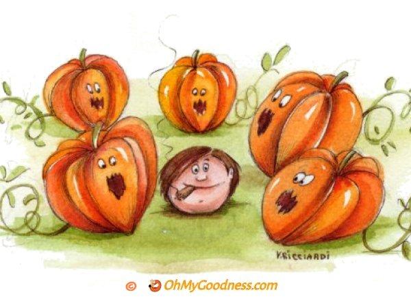 : Smoking Halloween Pumpkin