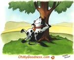 Hoy me siento como una vaca perezosa...