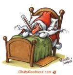 Santa Claus enfermo