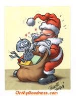 Santa delivering technology...