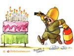 extinguishing candles...